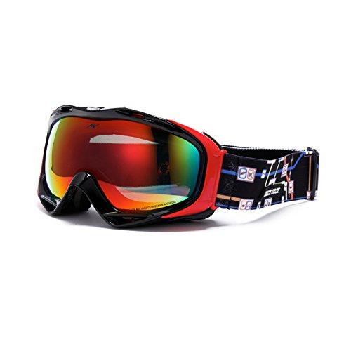 SE7VEN Lunettes De Ski Extérieur,Lumière Polarisée Lentille Double Couche Anti-buée Unisexe Snowboard Goggle Lunettes Myopie Compatible F