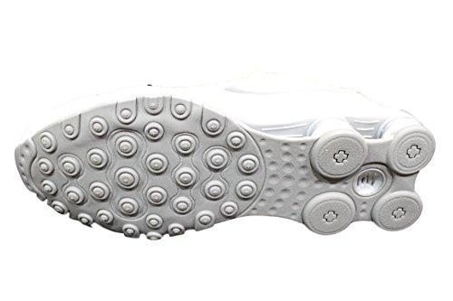 Nike Shox Avenue–Hombres De Piel Color BLANCO/plata Zapatillas de running 833584100