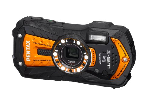 Pentax Optio WG-2 GPS Orange Adventure Series 16 MP Waterproof Digital Camera with 5 X Optical Zoom and GPS Pentax Waterproof Digital
