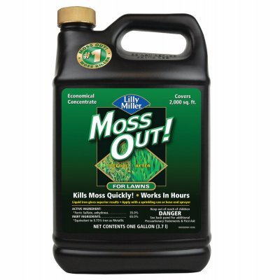 Central Garden Brands 100099156 Moss Outdoor or Outer For Lawns, Covers 2,000-Sq. Ft. - Quantity 4