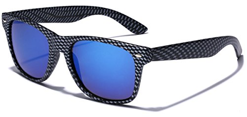 Carbon Fiber Style Retro Fashion Sunglasses Carbon Fiber | Ice