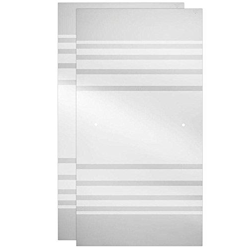Delta 60 in. Sliding Bathtub Door Glass Panels in Transition (1-Pair)