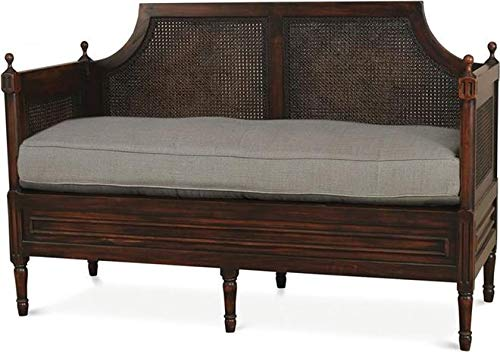 Bramble Settee Versailles Post Legs Slender Arms Mahogany Plush New