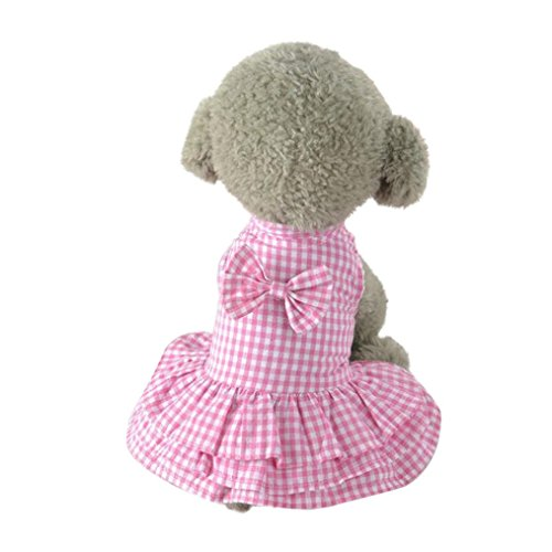 2018 Hot Sale!Big Promotion!Dog Clothes❤️ZYEE❤️Cute Sweet Pet Puppy Dog Apparel Clothes Short Skirt Dress New (XS, Pink)