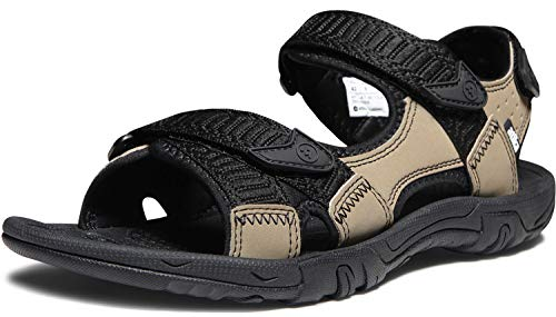 ATIKA Men's Sport Sandals Maya Trail Outdoor Water Shoes, Havana(m113) - Black & Tan, 10