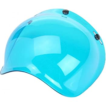 0131-0078 AFX Blue Three-Snap Flip Bubble Shield//Visor
