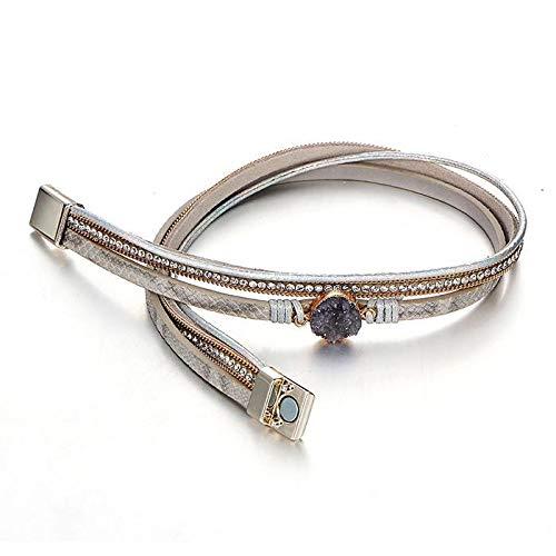 Kirken Women Artificial Leather Bangle Bracelet Charm Wristband Bracelets Gift