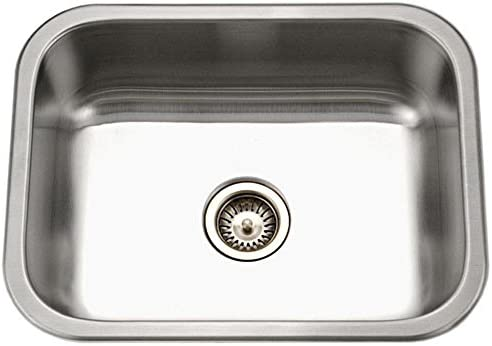 Houzer ES-2408-1 Elite Series Undermount Stainless Steel Single Bowl Kitchen Sink