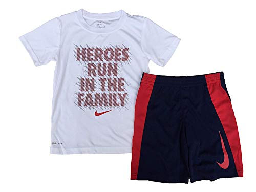 Nike JUST DO IT Dri-FIT Graphic T-Shirt Toddler Boys Girls White Red 6 7