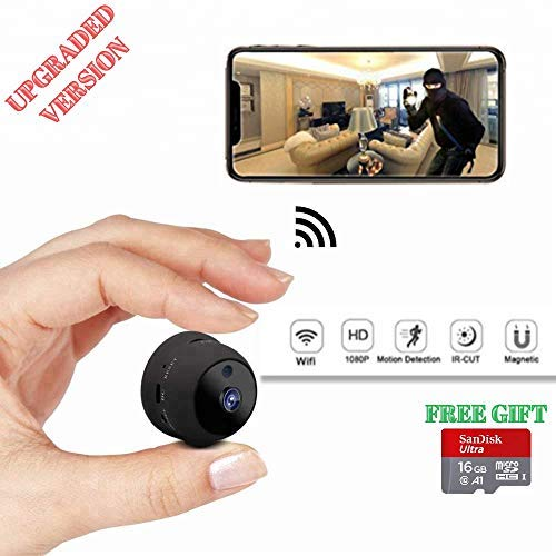 Spy Camera 1080P WiFi VISWALLY Hidden Camera Home Wireless Baby Elderly Nanny Pet Motion Detection Night Vision Built-in Battery for iPhone Android Pc ipad (Spy Camera) For Sale