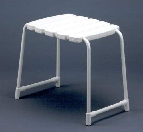Gedy Promed Taburete de Bano, Aluminio, Blanco, 55x35x41.6 cm