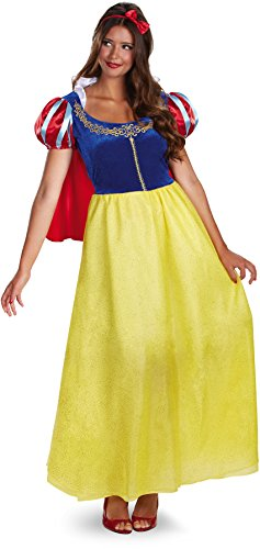 Disguise Women's Disney Snow White Deluxe Costume, Yellow/Red/Blue, Large (White Adult)