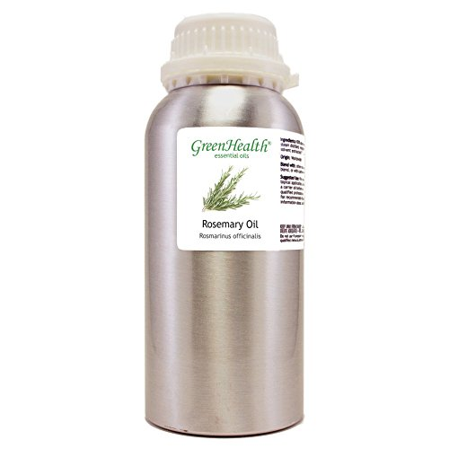 GreenHealth Rosemary Essential Oil - 32 fl oz (946 ml) Aluminum Bottle w/Plug Cap - 100% Pure