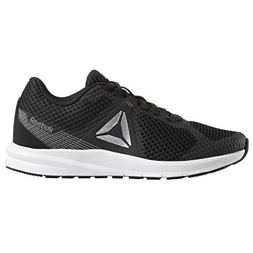 Reebok Women's Endless Road Running Shoe, Black/True Grey/White/Pure Silver, 8 D US