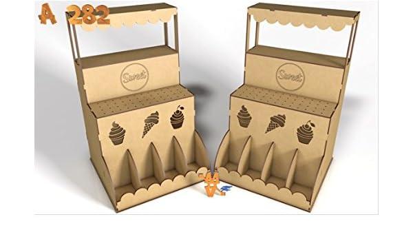 Kit para hacer kiosco de madera DM para candy bar mesa dulce. Manualidades con madera: Amazon.es: Hogar
