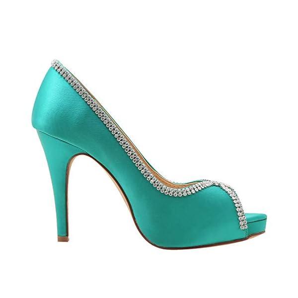 Zapato de fiesta verde teal Elegantpark