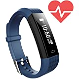 Fitness Tracker HR, Activity Tracker with Heart Rate Monitor Watch for Kids Women Men, IP67 Waterproof Smart Wristband with Calorie Counter Watch Pedometer Sleep Monitor for iOS & Android (Blue)