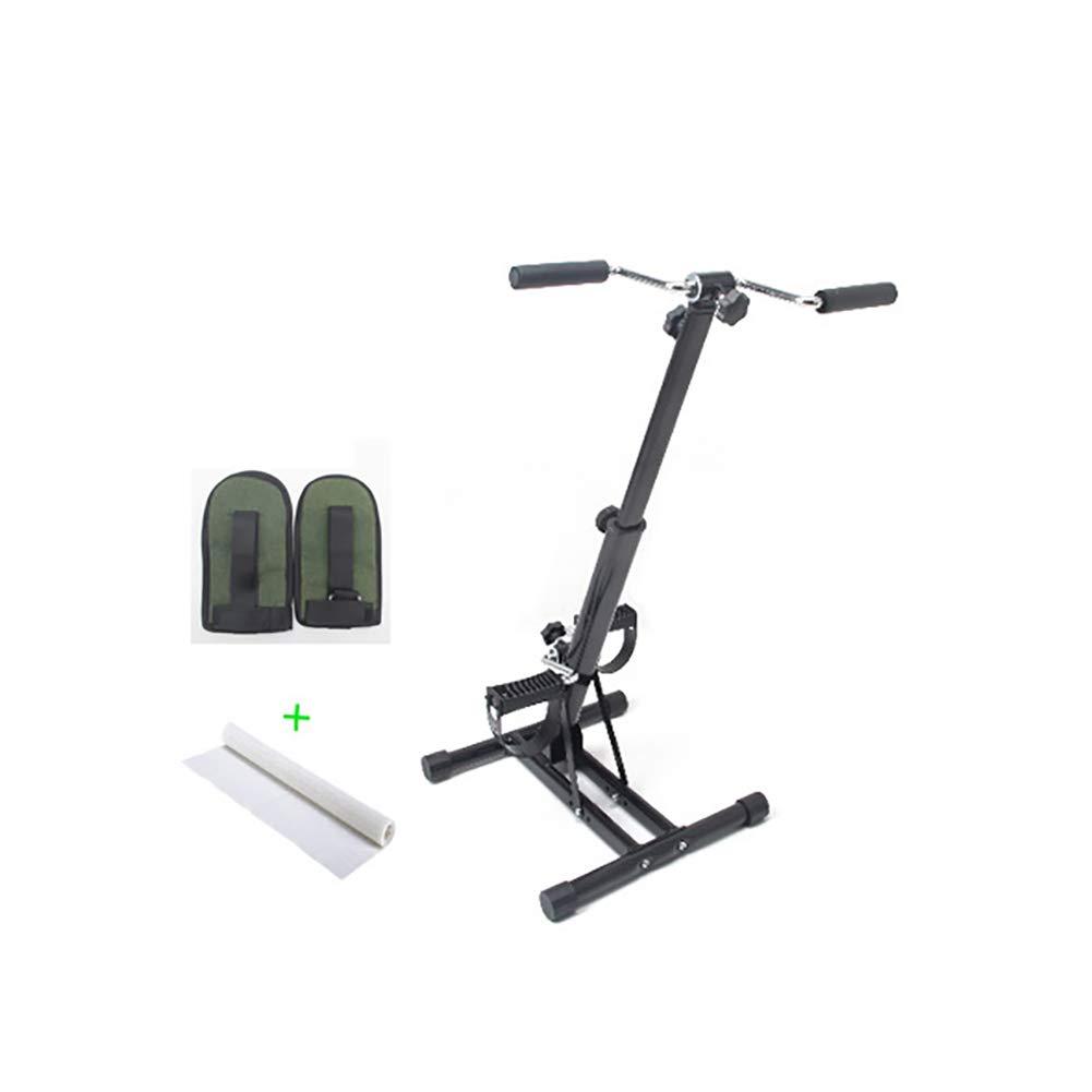 BAILUSX Stroke Hemiplegia Rehabilitation Trainer Obere und Untere Gliedmaßen Rehabilitation Training Fahrrad Heimtrainer,Host+Gloves+Mat