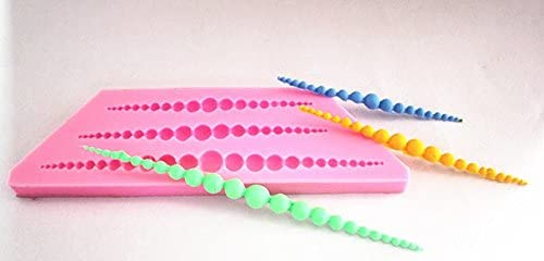 Longzang String of pearls Art Deco Silicone Mold Sugar Craft DIY Gumpaste Cake Decorating Clay