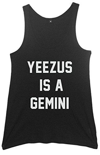 Yeezus vestido para disfraz estilo años sudadera con capucha para mujer es un chaleco para de Géminis negro