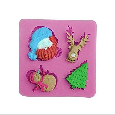 nikgic Navidad Forma Pudding de chocolate Molde antiadherente molde para magdalenas Moldes para niños DIY Hornear Herramientas Huevo Frito: Amazon.es: Hogar