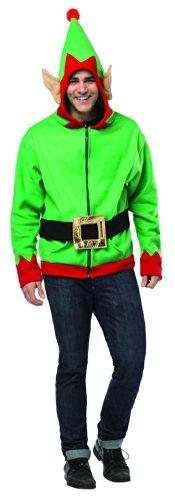 Rasta Imposta Juniors Hoodie Elf, Green/Red/Black, One Size
