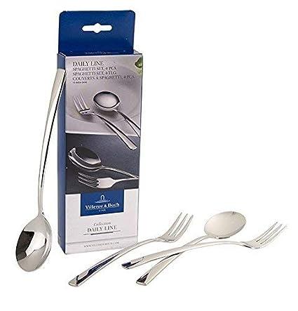 Villeroy & Boch Daily Line Specials Set de espagueti, 4 piezas, Acero inoxidable 18