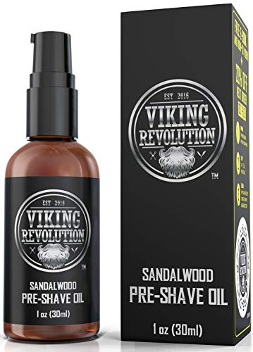 Pre Shave Oil for Men - Best Shaving Oil with Sandalwood for Safety Razor, Straight Razor - For the Smoothest, Irritation Free Shave