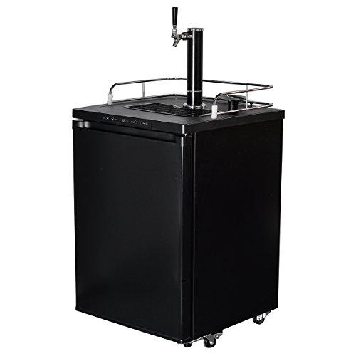 Smad Full Size beer Dispenser Free Standing Keg Beer Cooler with CO₂ Tank and Kit,5.6 cu (Freestanding Beer Dispenser)