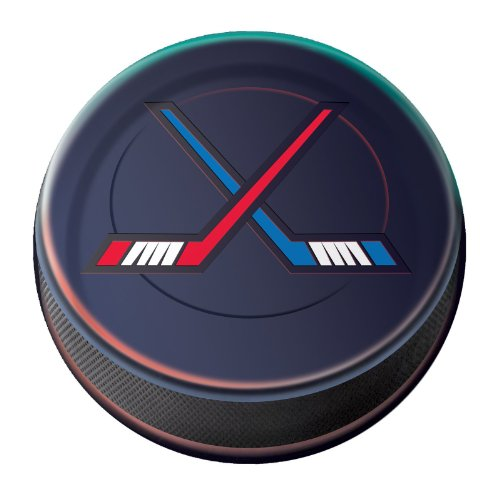 Hockey 6-3/4 Inch Paper Plates (8 Pack)