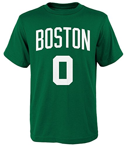 Outerstuff Jayson Tatum Boston Celtics Youth Green Name and Number Player T-Shirt Large 14-16