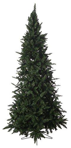 7.5ft Slim Calgary Artificial Christmas Tree (Unlit) (Unlit Artificial Slim Christmas Trees)