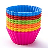 Silicone Baking Cups, SAWNZC Reusable Cupcake