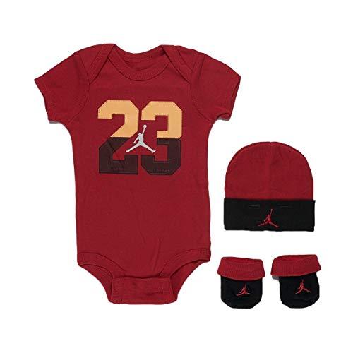 Nike Jordan Jumpman 3 Piece Infant Set (Red(LJ0069-R78)/Orange, 0-6 Months)