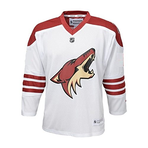fan products of Arizona Coyotes NHL Youth Team Road Jersey - White (Youth L/XL)