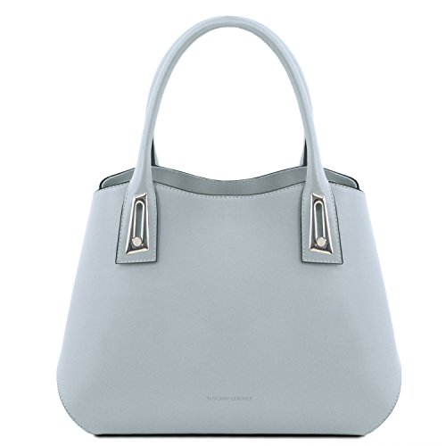 Tuscany Leather Flora Borsa a mano in pelle - TL141694 (Celeste) blu