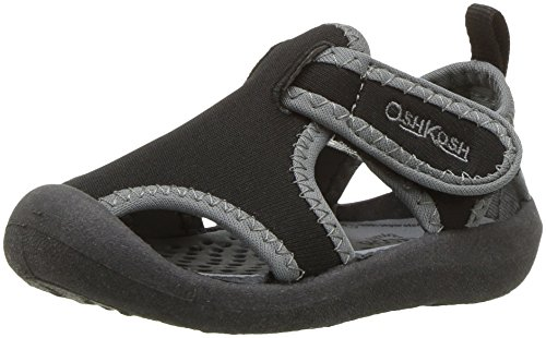 OshKosh B'Gosh Unisex-Kids Aquatic Girl's and Boy's Water Shoe, Black, 11 M US Little Kid