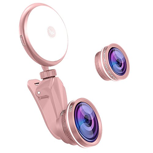 Wide Angle + Macro Clip-On Lens for Smartphones and Tablets (Gold) - 2