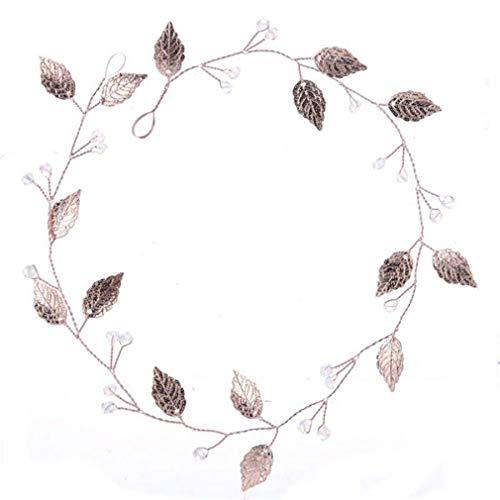Delicate Hairb s For Women H made Gold Rose Leaf Headb s Bride Hair B Wedding Hair Accessories Tiaras Headpiece as show