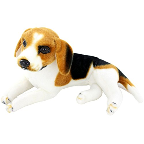 "JESONN Realistic Stuffed Animals Dog Plush Toys Beagle,12"" for sale  Delivered anywhere in USA"