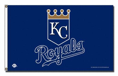 MLB Kansas City Royals 3-Foot by 5-Foot Banner Flag