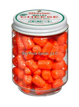 Bait Use Trout Fishing (Atlas Mike's Jar of Siberian Cheese Glitter Marshmallow Salmon Fishing Bait Eggs, Orange)
