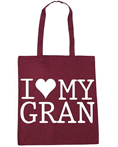 Gran Gym Hippowarehouse 42cm X38cm Love Shopping Litres Bag I My Tote 10 Beach raYa6t