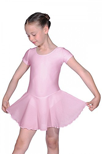 Roch Valley RV2383 Girls Leotard with Chiffon Skirt Pale Pink Age 9-10 (2) by Roch Valley by Roch Valley