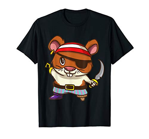 Guinea Pig Pirate Costume (Pirate Hamster Halloween Party Kids Shirt Jolly Roger )