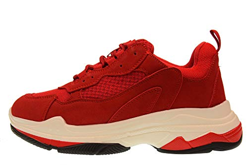Scarpe Rosso Donna amp; Sneakers Gold Basse Gt529 zxvwnZf