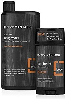 product image for Every Man Jack, 16.9-ounce Activated Charcoal Body Wash Twin Pack + 2.7-ounce Activated Charcoal Deodorant Twin Pack (BUNDLE PACK)