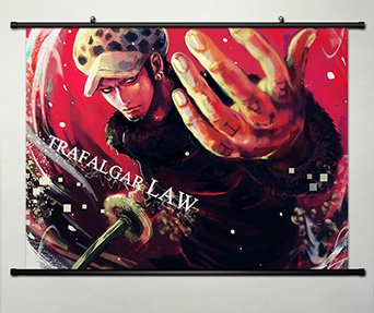 Wall Scroll Poster Fabric Painting For Anime One Piece Trafa