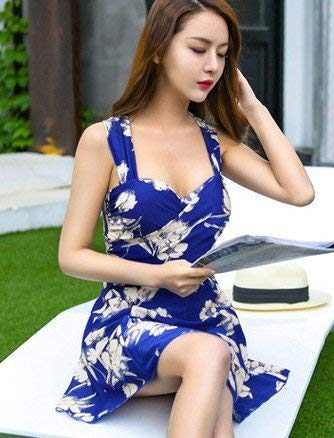 Petit Acier Réunis Fin Oudan Style Taille Split De Xl Saphir M Et Noir Pauvreté Fleurs Unique Bleu coloré Comme Maillot Bain Montré Vidéo Montré Coffre 6vny7rFzv