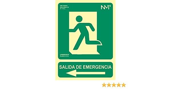 Señal Luminiscente RD14191 Salida De Emergencia Flecha ...